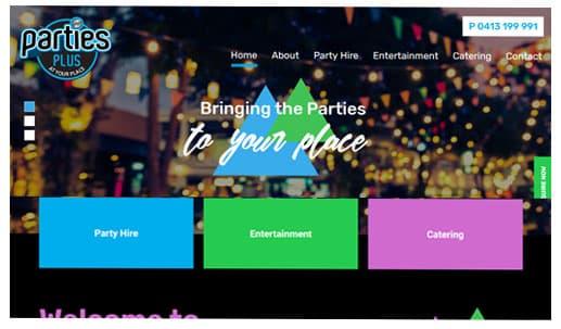 Parties Plus Website Success Stories
